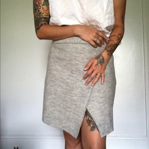 Gray Felted Free People Skirt